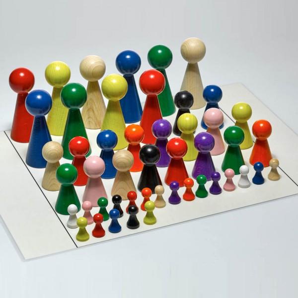 """Figurenset """"Plus"""" für Systembrett Familienbrett - Set mit 48 Figuren und Aufstellungsplan"""