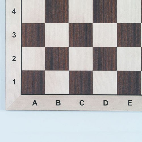 Schachbrett Mahagoni und Ahorn, (45 cm)
