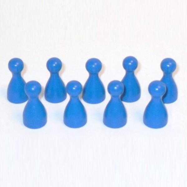 100 Stück Halmakegel aus Holz (25 mm), blau