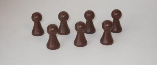 100 Stück Halmakegel aus Holz (27 mm), braun