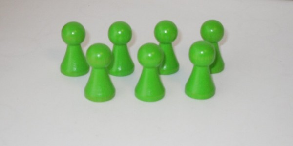 100 Stück Halmakegel aus Holz (27 mm), hellgrün