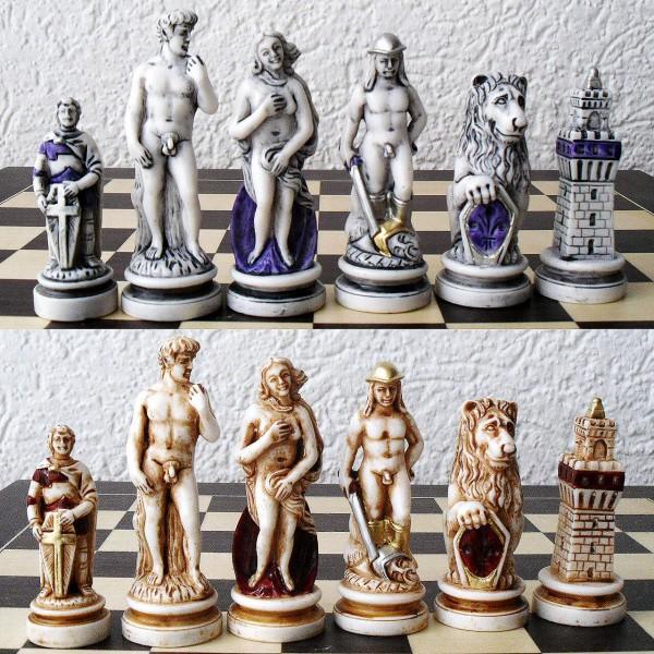 """Schachfiguren """"Florenz, Firenze"""""""