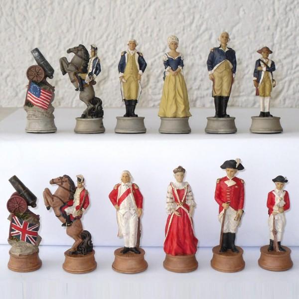 Schachfiguren England vs. Amerika