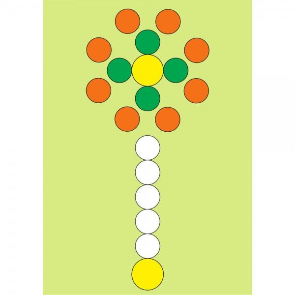 Selbsthaftender Spielplan Legespiel Blume, A3