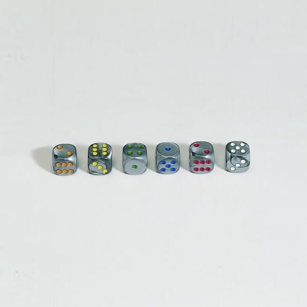 "50 Stück Würfel aus Acrylglas ""Shadow"" (16 mm), gemischt"