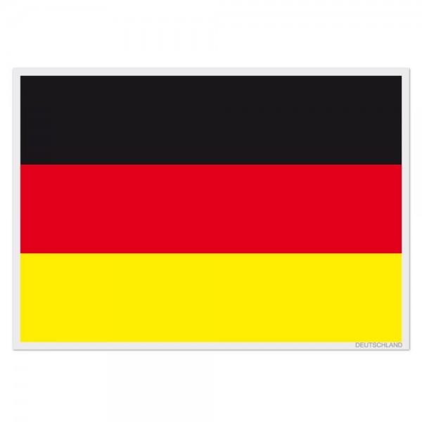 Selbsthaftende Flagge - Deutschland (A3)