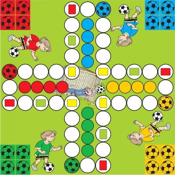 Selbsthaftender Spielplan Ludo Fußballkids, 30x30 cm