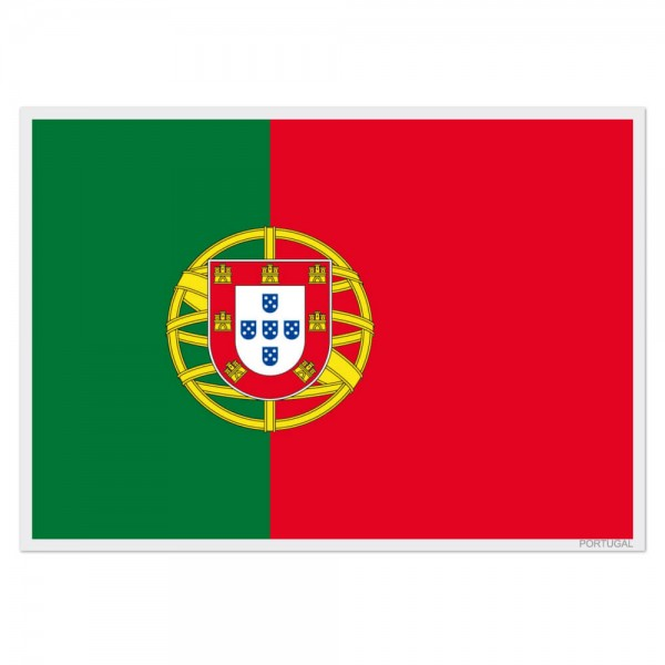 Selbsthaftende Flagge - Portugal (A3)