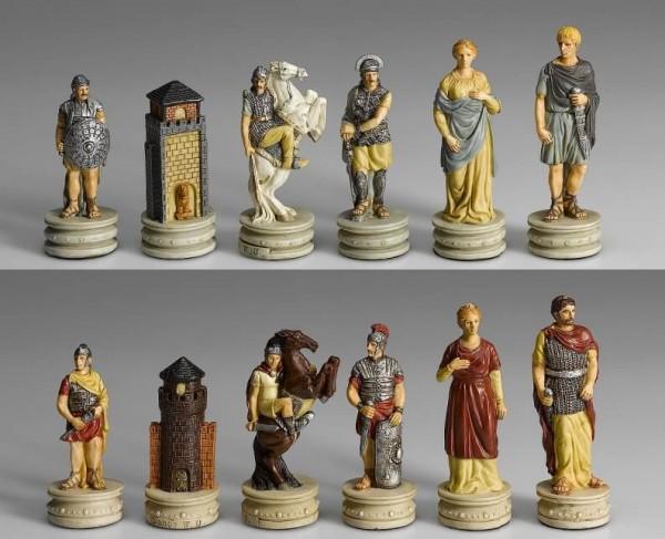 Schachfiguren Griechenland vs. Römer