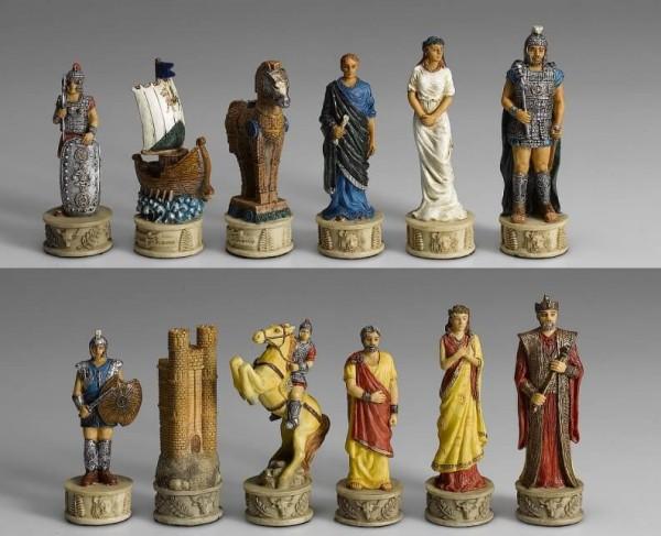 Schachfiguren Troja vs. Sparta