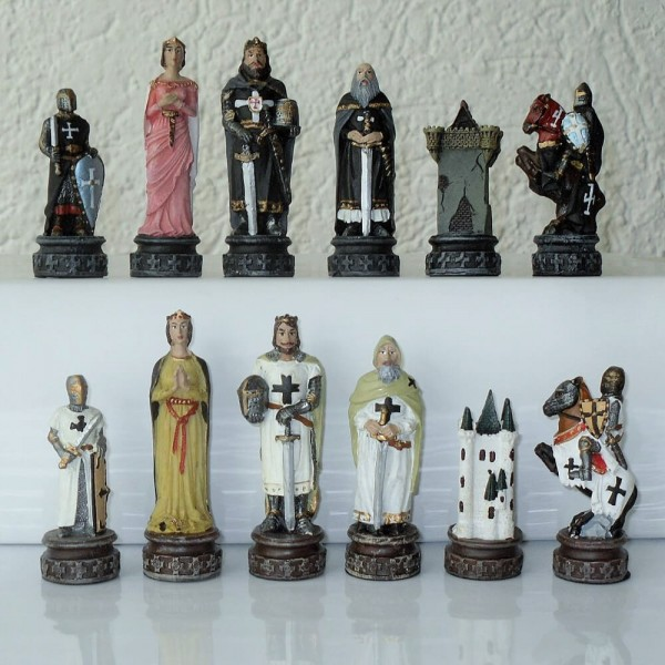 Schachfiguren Kreuzritter / Tempelritter
