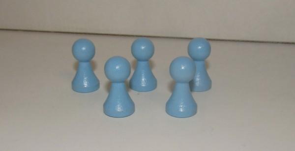 100 Stück Halmakegel aus Holz (27 mm), hellblau pastell