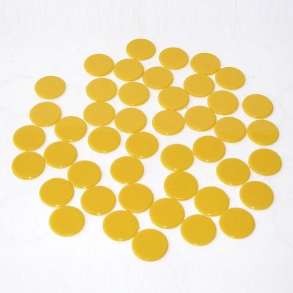 100 Roulette-Spielmarken, Spielchips, Zählchips aus Kunststoff gelb (15 mm)