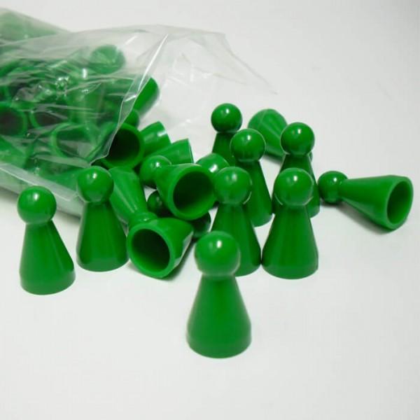 100 Stück Halmakegel aus Kunststoff (25 mm), grün
