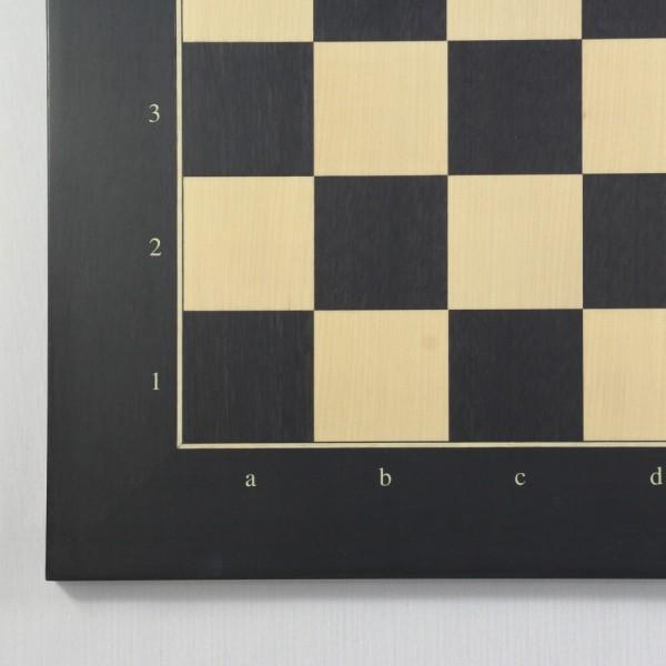 Schachbrett Anigré schwarz und Ahorn (Feldgröße 55 mm)