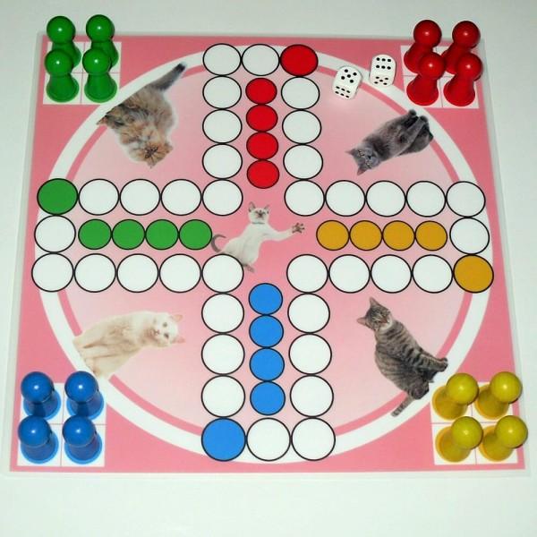 Magnetisches Ludospiel Katzen für 4 Personen, 30x30 cm