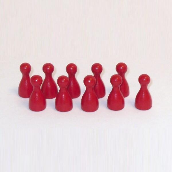 100 Stück Halmakegel aus Holz (25 mm), rot