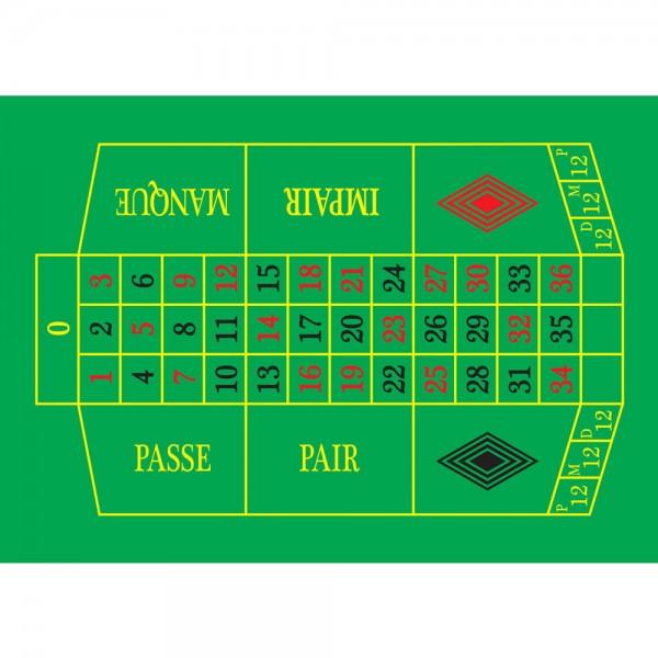Selbsthaftender Spielplan Roulette XL