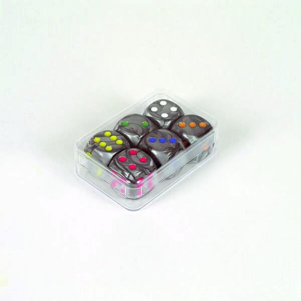 "6 Stück Würfel aus Acrylglas ""Shadow"" (16 mm), gemischt"