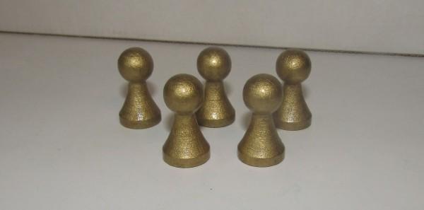100 Stück Halmakegel aus Holz (27 mm), gold