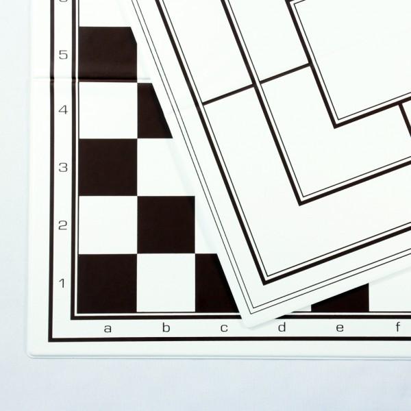 Faltbarer Schach-, Dame-, Mühleplan aus Kunststoff (Feldgröße 40 mm)