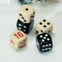 5 Stück Backgammon Spielwürfel