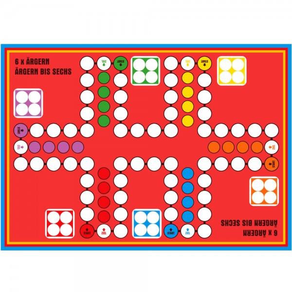 Selbsthaftender Spielplan Ludo 6 x ärgern XL