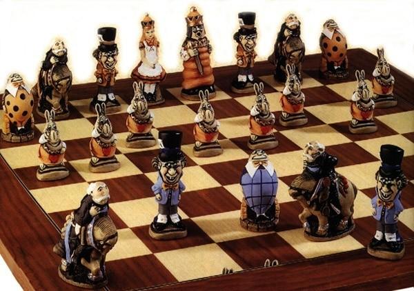 Alice im Wunderland Schachfiguren a145p