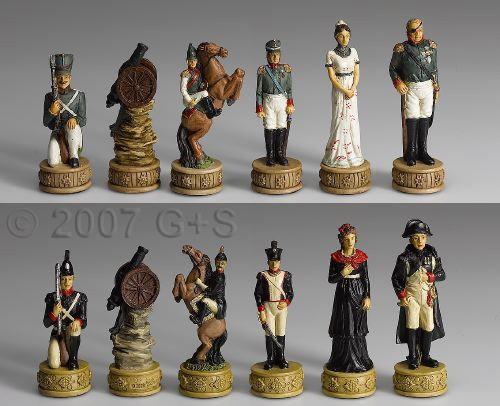 Schachfiguren Napoleon in Russland