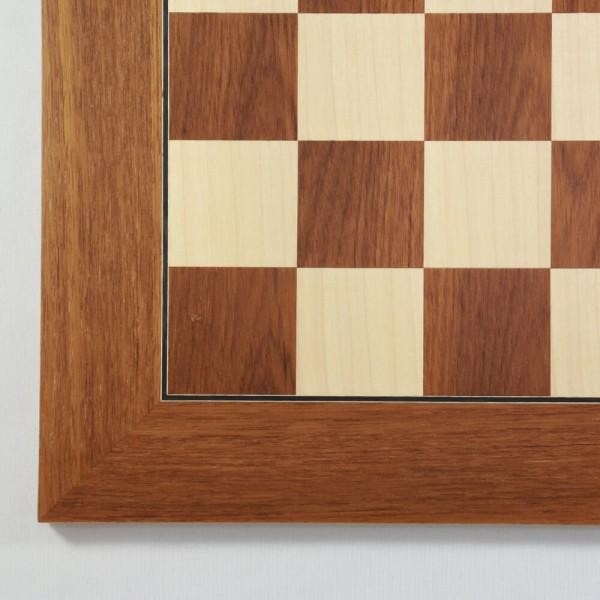Schachbrett Teak und Ahorn (Feldgröße 45 mm)