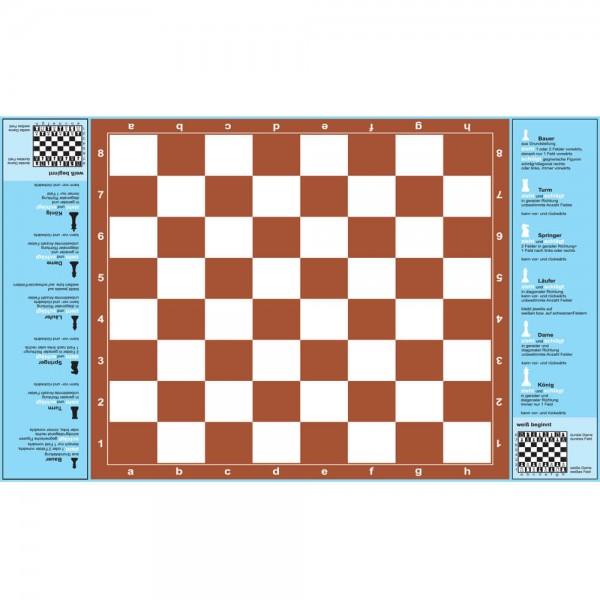 Selbsthaftender Spielplan Schach für Anfänger, A3