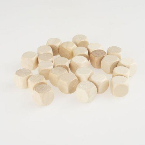 50 Blankowürfel Holzwürfel (16 mm), natur