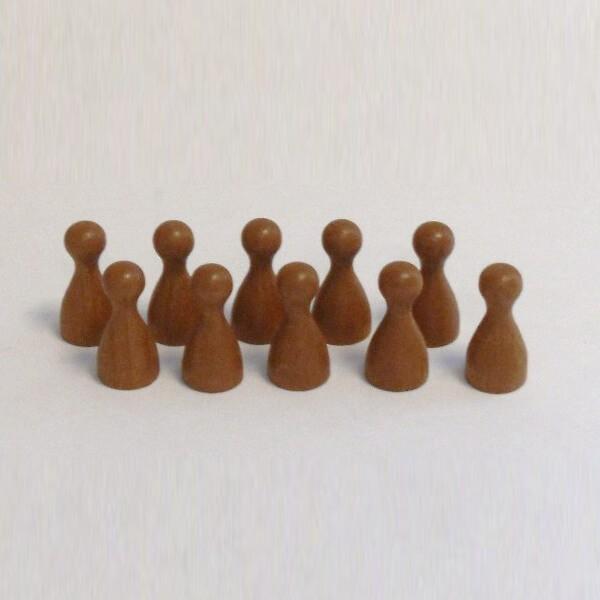100 Stück Halmakegel aus Holz (25 mm), braun