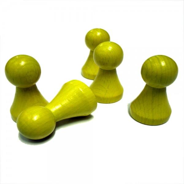 "extra großer gelber Halmakegel ""Maxi Plus"" 28 x 50 mm aus Holz"