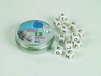 13 Buchstabenwürfel aus Holz (14 mm)