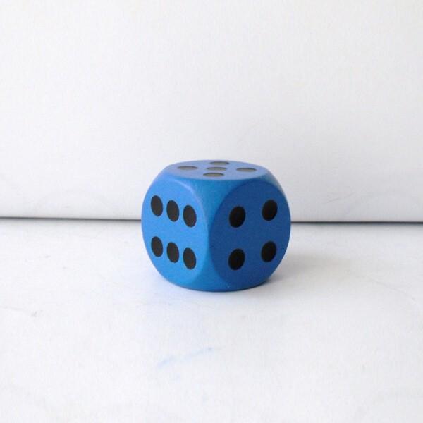 Jumbowürfel aus Holz (25 mm), blau
