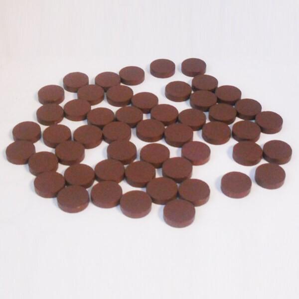 100 Spielchips, Roulette-Spielmarken, Zählchips aus Holz, braun (15 x 4 mm)