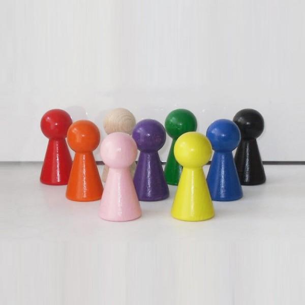 """9 Figurenkegel , Spielfigur """"Titan"""", Halmakegel aus Holz (60 mm)"""