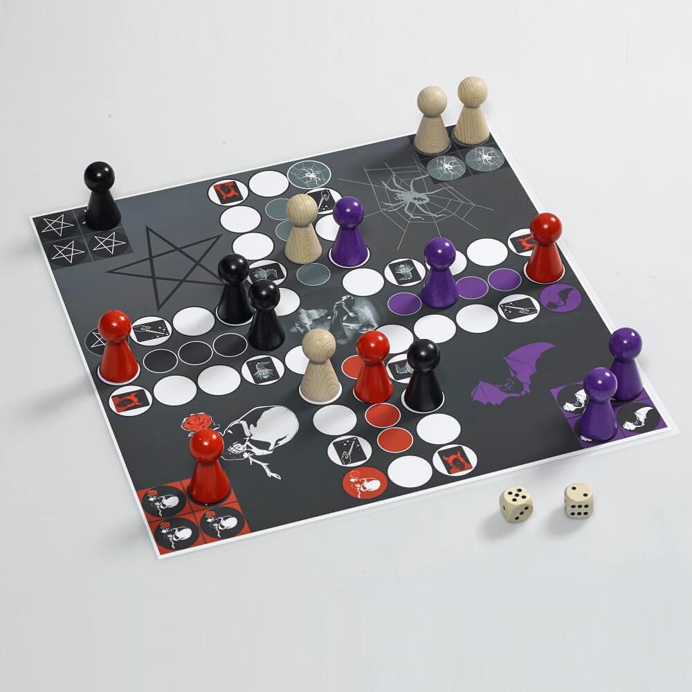 Carambolage magnetisches Ludo mit Gegenverkehr Würfelspiel Gesellschaftsspiel