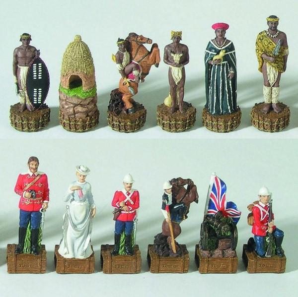 Schachfiguren England vs. Zulu