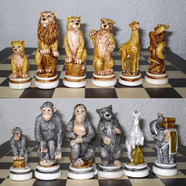 """Schachfiguren """"Tierreich"""""""