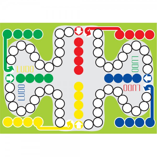 Selbsthaftender Spielplan Ludo grün, A3
