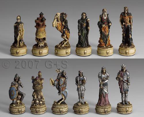 Schachfiguren Skelettkrieger