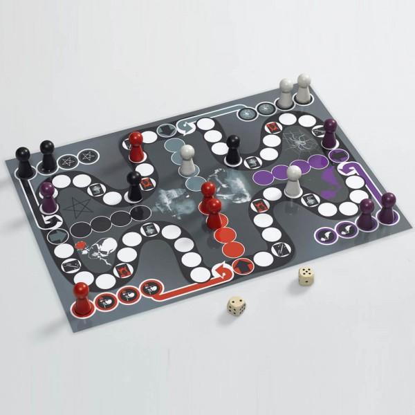 """Ludo """"Gothic"""" - Spielfiguren und Spielplan, 30x42 cm (A3)"""