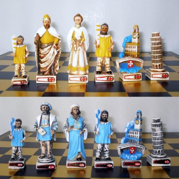 """Schachfiguren """"Gioco del Ponte in Pisa"""""""