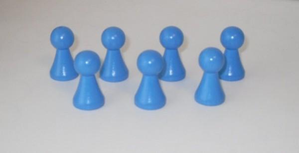 100 Stück Halmakegel aus Holz (27 mm), hellblau