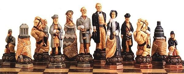 Amerikanischer Bürgergerkrieg Schachfiguren a160s