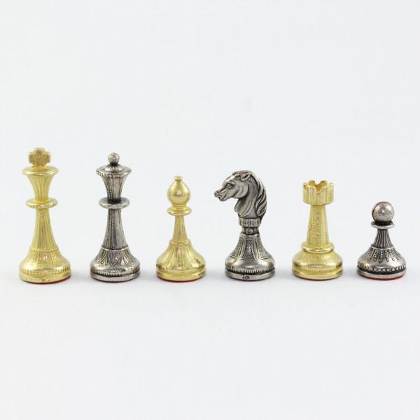 Schachfiguren aus Metall Staunton-Form, (K50)