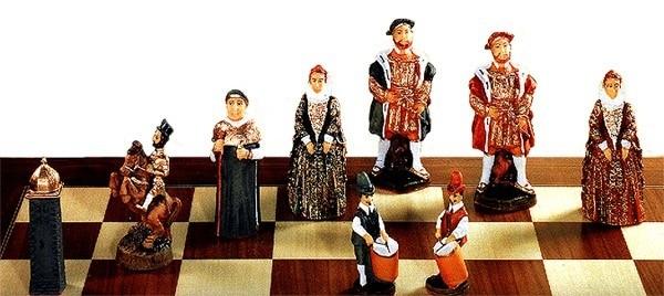 Tudor Kings & Queens Schachfiguren a140p