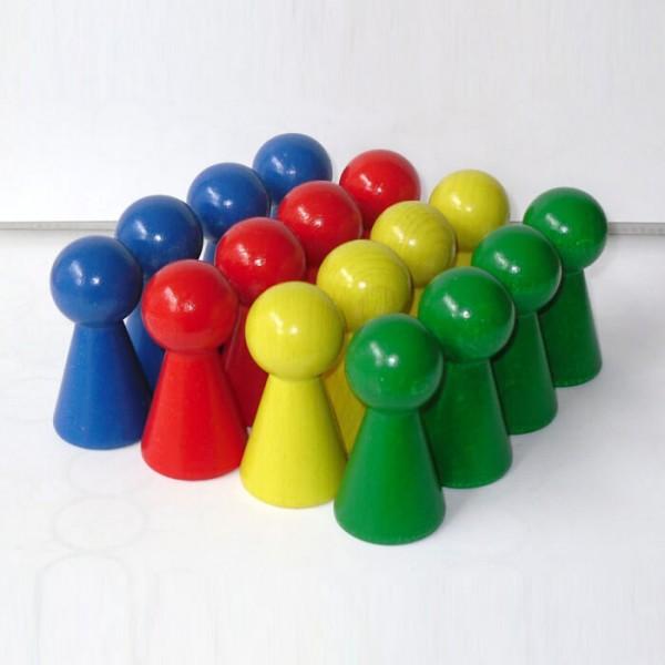 """16 Figurenkegel , Spielfigur """"Titan"""", Halmakegel aus Holz 60mm-Spielset"""
